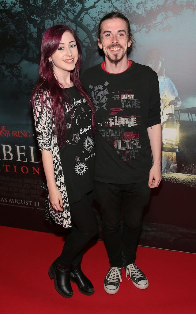 Sinead Donnelly and Aaron Clancy at the special preview screening of Annabelle: Creation at Cineworld, Dublin. Picture: Brian McEvoy