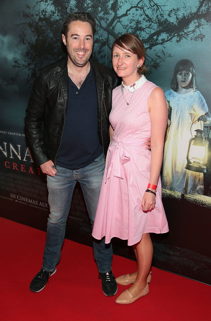 Karl Geiran and Katie O Carroll at the special preview screening of Annabelle: Creation at Cineworld, Dublin. Picture: Brian McEvoy