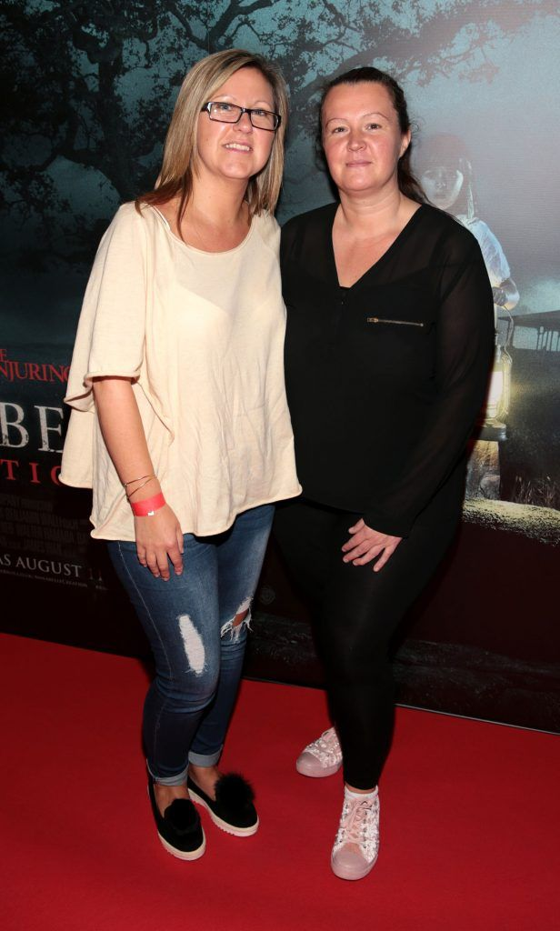 Tracy Heeney and Fiona Mullen at the special preview screening of Annabelle: Creation at Cineworld, Dublin. Picture: Brian McEvoy