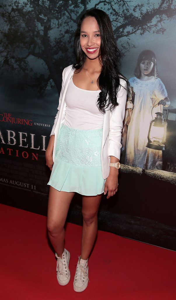 Gigi Rocha at the special preview screening of Annabelle: Creation at Cineworld, Dublin. Picture: Brian McEvoy
