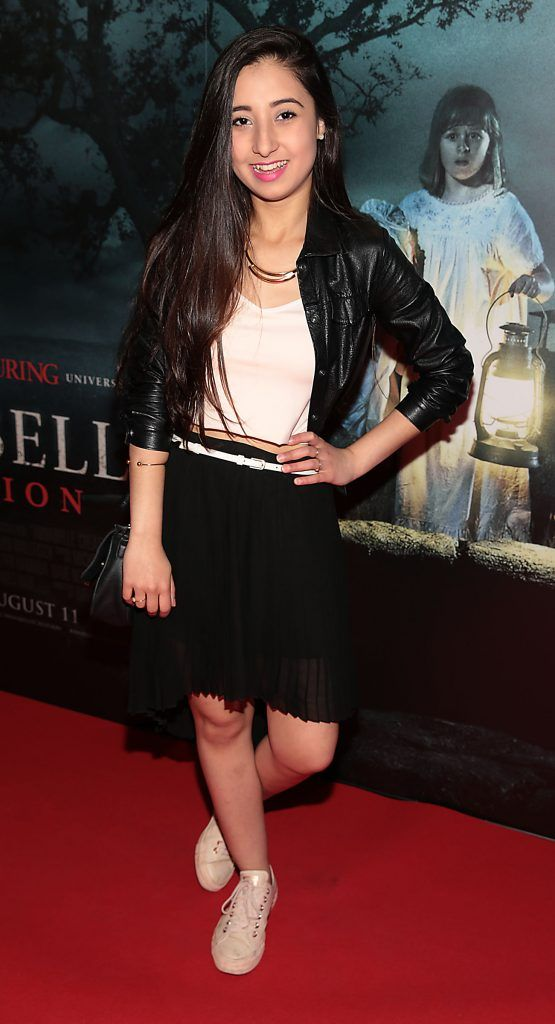 Emille Rosa at the special preview screening of Annabelle: Creation at Cineworld, Dublin. Picture: Brian McEvoy