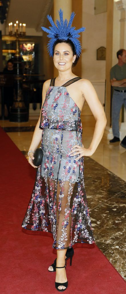 Oniesa Owens at the Most Stylish Lady at The Shelbourne Hotel in association with IMAGE Magazine-photo Kieran Harnett