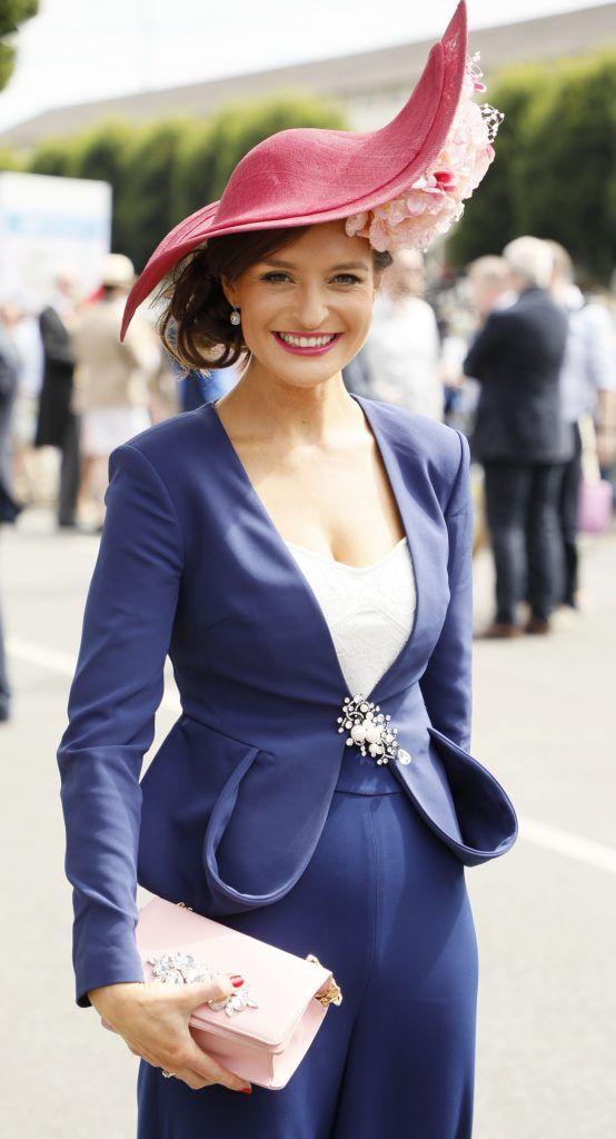 Aoife O'Hanlon at the Dundrum Town Centre Ladies Day at The Dublin Horse Show in the RDS -photo Kieran Harnett