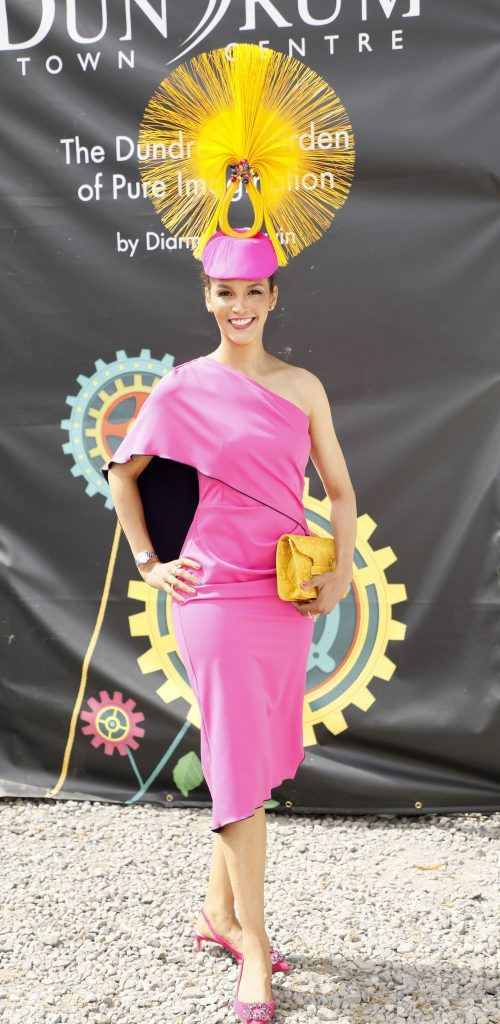 Linda Malone at the Dundrum Town Centre Ladies Day at The Dublin Horse Show in the RDS -photo Kieran Harnett