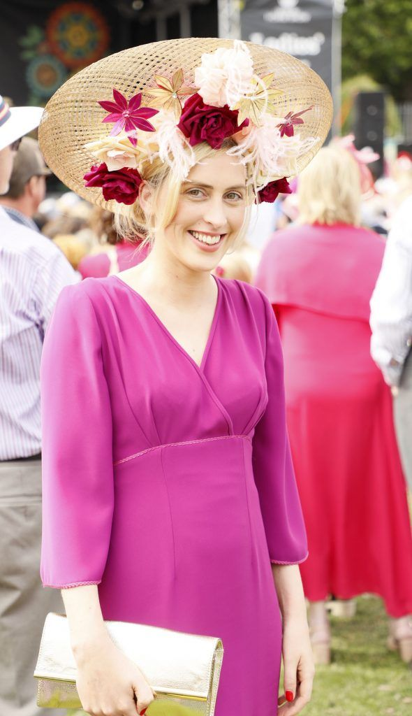 Heidi Higgins at the Dundrum Town Centre Ladies Day at The Dublin Horse Show in the RDS -photo Kieran Harnett