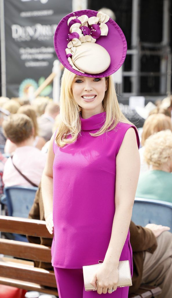 Laura O'Hanlon at the Dundrum Town Centre Ladies Day at The Dublin Horse Show in the RDS -photo Kieran Harnett