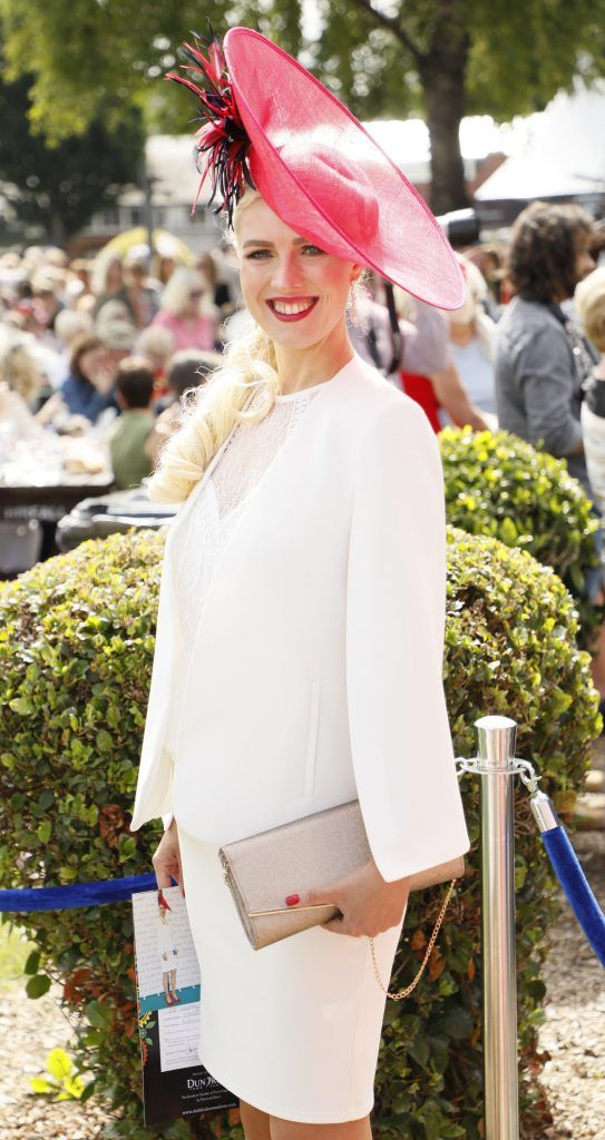 Tatiana Nikolenko at the Dundrum Town Centre Ladies Day at The Dublin Horse Show in the RDS -photo Kieran Harnett