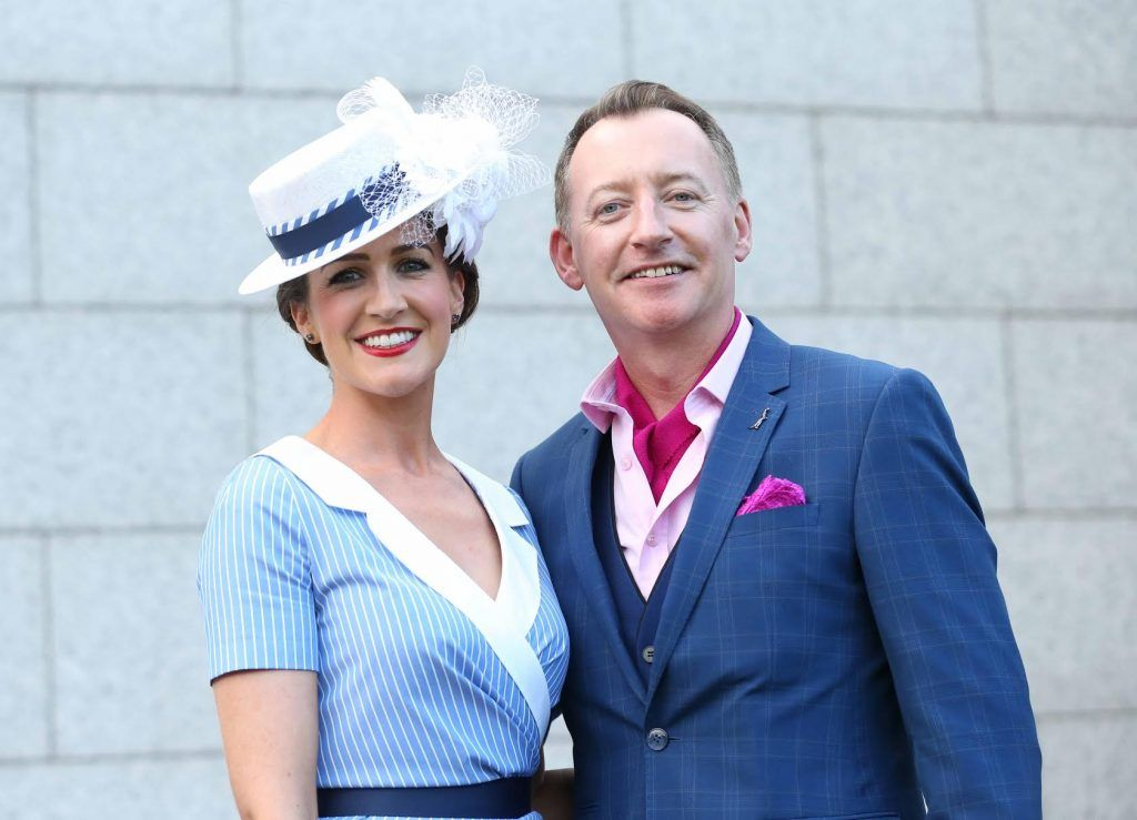 Rebecca Rose Quigley and Niall Tyrrel at InterContinental Dublin following the Dublin Horse Show for the hotel's inaugural 'Continentally Classic' Best Dressed Lady competition, judged by stylist Bairbre Power and Nicky Logue, General Manager of InterContinental Dublin. Photo: Sasko Lazarov/Photocall Ireland