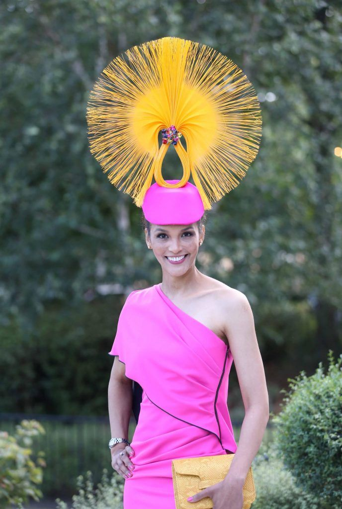 Linda Malone at InterContinental Dublin following the Dublin Horse Show for the hotel's inaugural 'Continentally Classic' Best Dressed Lady competition, judged by stylist Bairbre Power and Nicky Logue, General Manager of InterContinental Dublin. Photo: Sasko Lazarov/Photocall Ireland