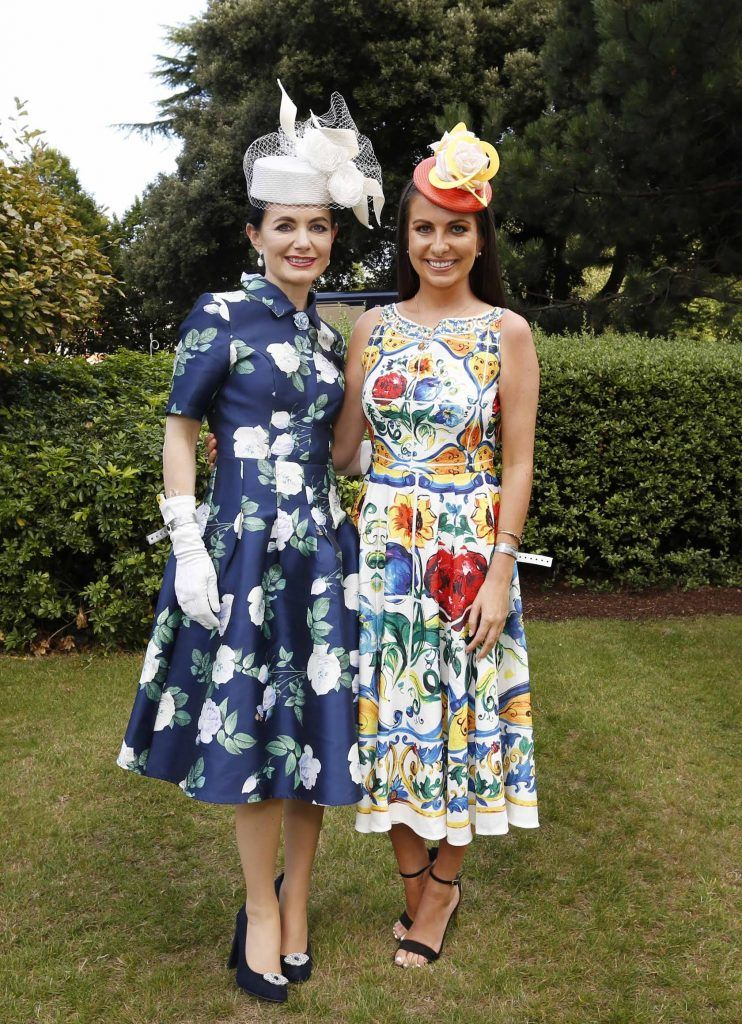 Deirdre Kane and Emily O'Donnell at InterContinental Dublin following the Dublin Horse Show for the hotel's inaugural 'Continentally Classic' Best Dressed Lady competition, judged by stylist Bairbre Power and Nicky Logue, General Manager of InterContinental Dublin. Photo: Sasko Lazarov/Photocall Ireland