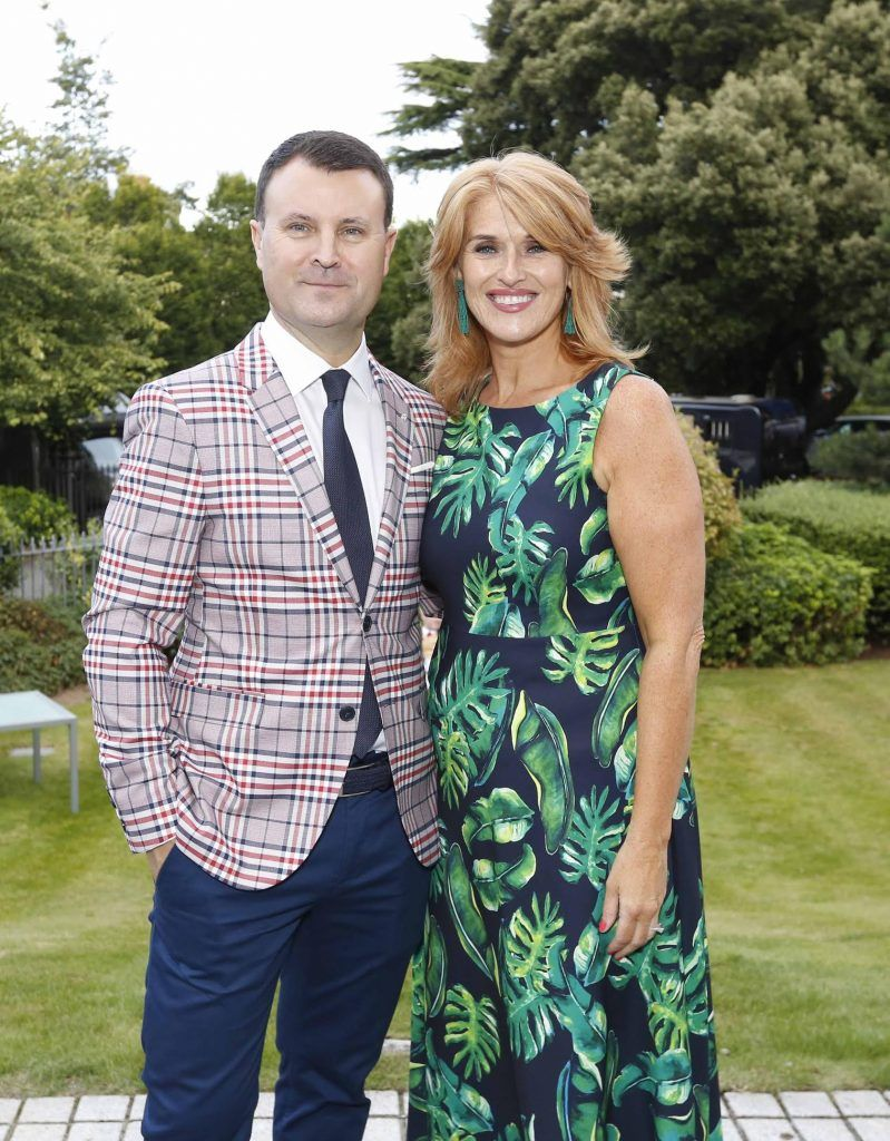 Nicky Logue and Roisin O'Hea at InterContinental Dublin following the Dublin Horse Show for the hotel's inaugural 'Continentally Classic' Best Dressed Lady competition, judged by stylist Bairbre Power and Nicky Logue, General Manager of InterContinental Dublin. Photo: Sasko Lazarov/Photocall Ireland
