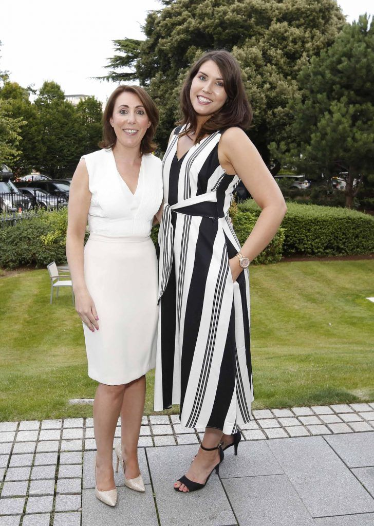 Ciara Hanley and Chloe Moreland at InterContinental Dublin following the Dublin Horse Show for the hotel's inaugural 'Continentally Classic' Best Dressed Lady competition, judged by stylist Bairbre Power and Nicky Logue, General Manager of InterContinental Dublin. Photo: Sasko Lazarov/Photocall Ireland