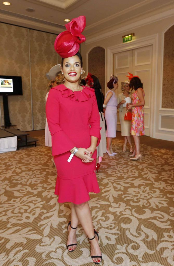 Alana Fearon at InterContinental Dublin following the Dublin Horse Show for the hotel's inaugural 'Continentally Classic' Best Dressed Lady competition, judged by stylist Bairbre Power and Nicky Logue, General Manager of InterContinental Dublin. Photo: Sasko Lazarov/Photocall Ireland