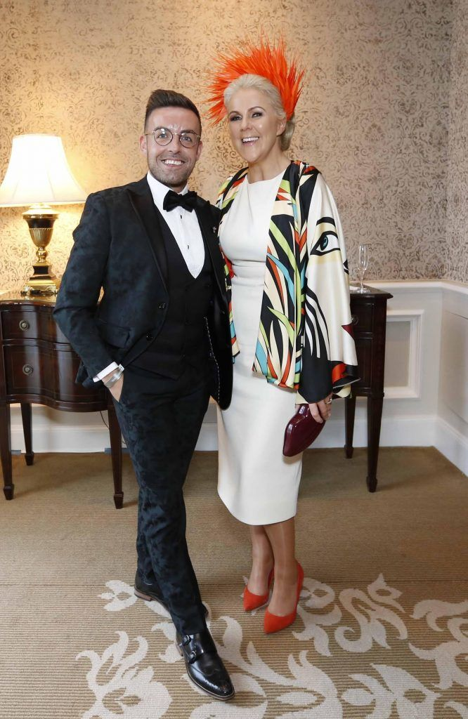Stewart Montgomery and Mary Stapleton Foley at InterContinental Dublin following the Dublin Horse Show for the hotel's inaugural 'Continentally Classic' Best Dressed Lady competition, judged by stylist Bairbre Power and Nicky Logue, General Manager of InterContinental Dublin. Photo: Sasko Lazarov/Photocall Ireland