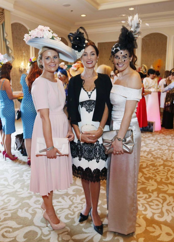 Ann Marie Blennerhassett, Marie O'Sullivan and Ellen Wallace at InterContinental Dublin following the Dublin Horse Show for the hotel's inaugural 'Continentally Classic' Best Dressed Lady competition, judged by stylist Bairbre Power and Nicky Logue, General Manager of InterContinental Dublin. Photo: Sasko Lazarov/Photocall Ireland