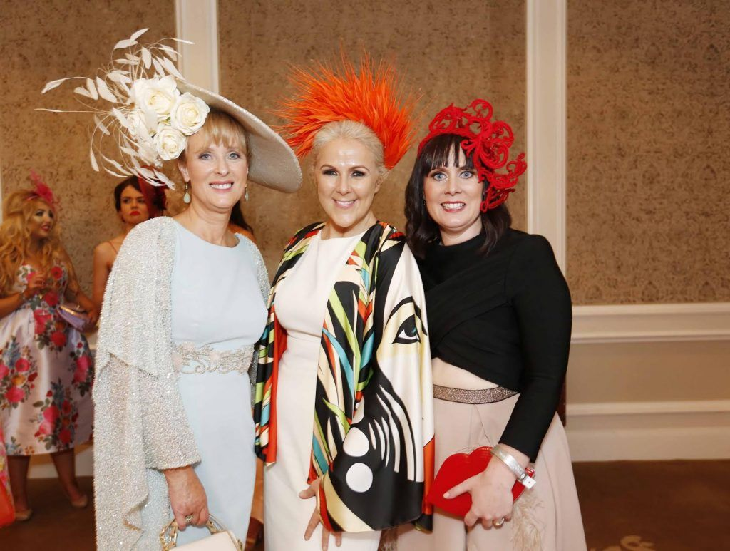 Claire Murphy, Mary Stapleton and Caroline McEnerey at InterContinental Dublin following the Dublin Horse Show for the hotel's inaugural 'Continentally Classic' Best Dressed Lady competition, judged by stylist Bairbre Power and Nicky Logue, General Manager of InterContinental Dublin. Photo: Sasko Lazarov/Photocall Ireland