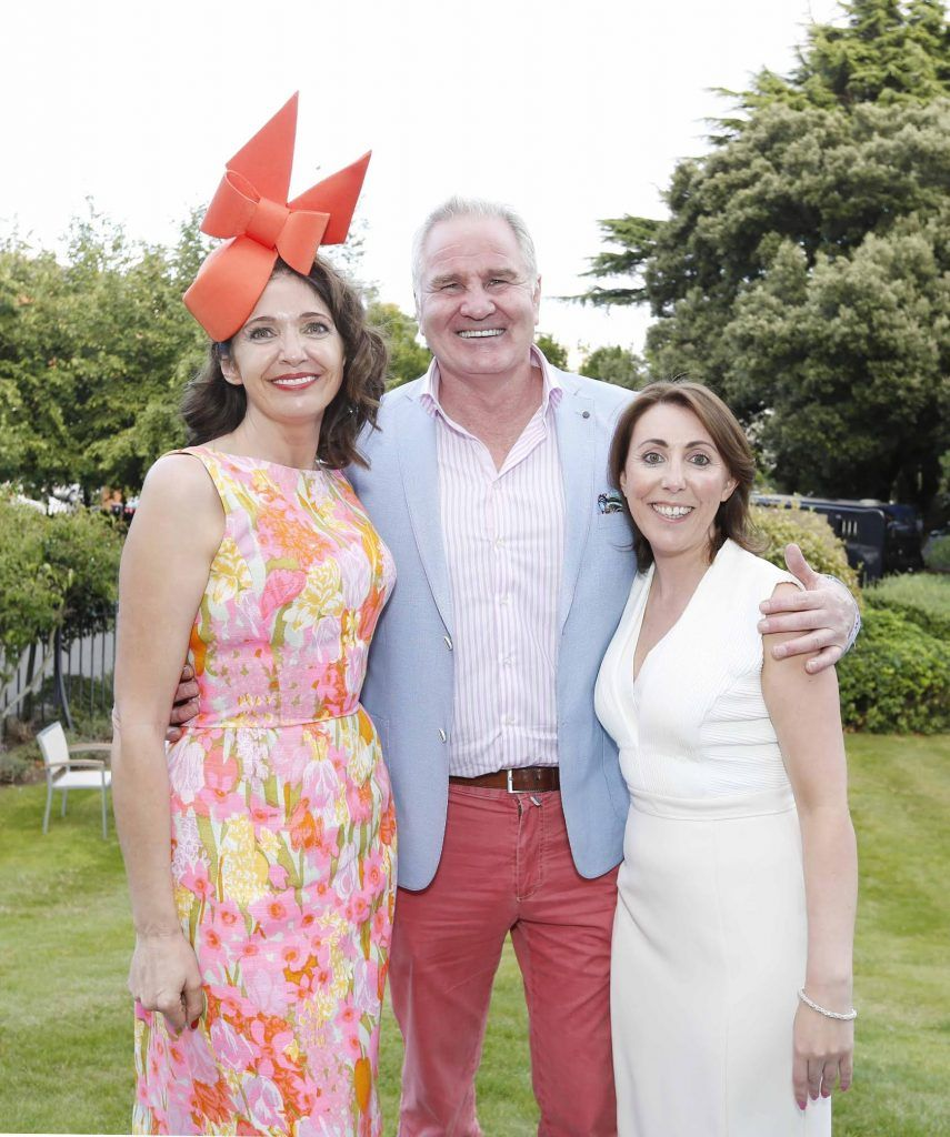 Carol Kenretty, Brent Pope and Ciara Hanley at InterContinental Dublin following the Dublin Horse Show for the hotel's inaugural 'Continentally Classic' Best Dressed Lady competition, judged by stylist Bairbre Power and Nicky Logue, General Manager of InterContinental Dublin. Photo: Sasko Lazarov/Photocall Ireland