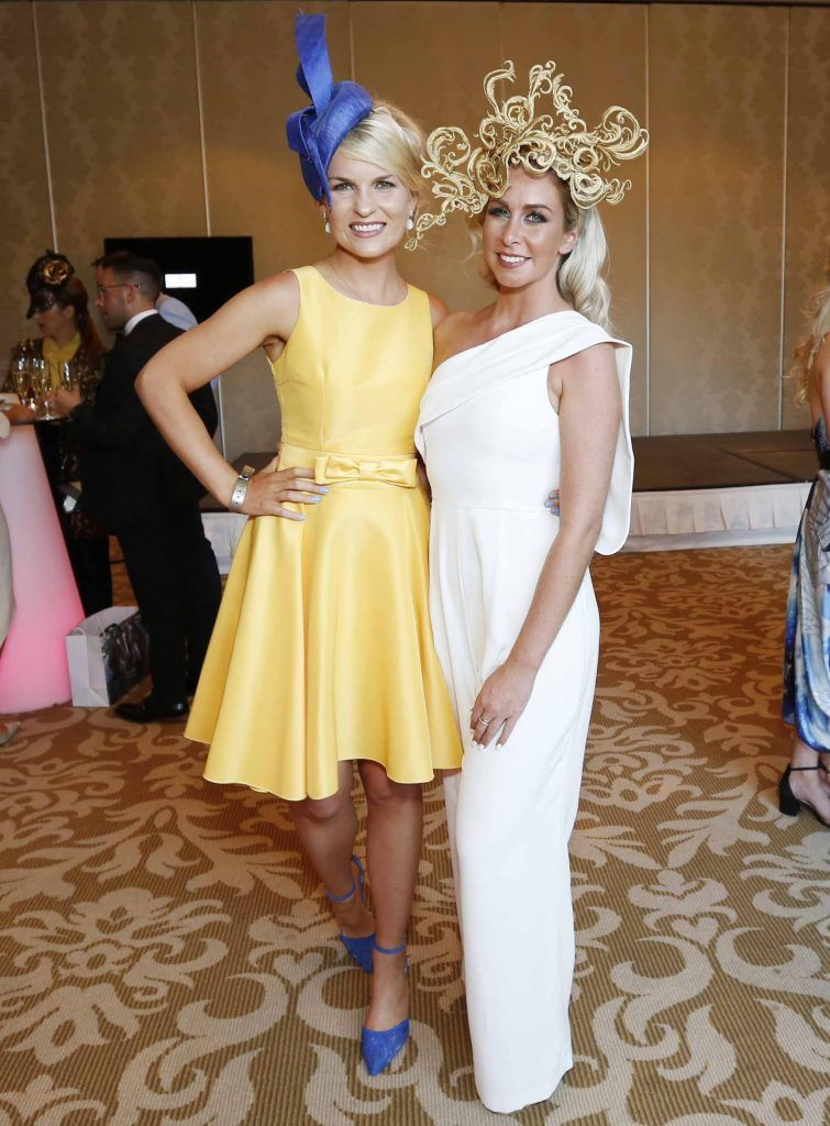 Lorraine Nolan and Aoife Howard at InterContinental Dublin following the Dublin Horse Show for the hotel's inaugural 'Continentally Classic' Best Dressed Lady competition, judged by stylist Bairbre Power and Nicky Logue, General Manager of InterContinental Dublin. Photo: Sasko Lazarov/Photocall Ireland