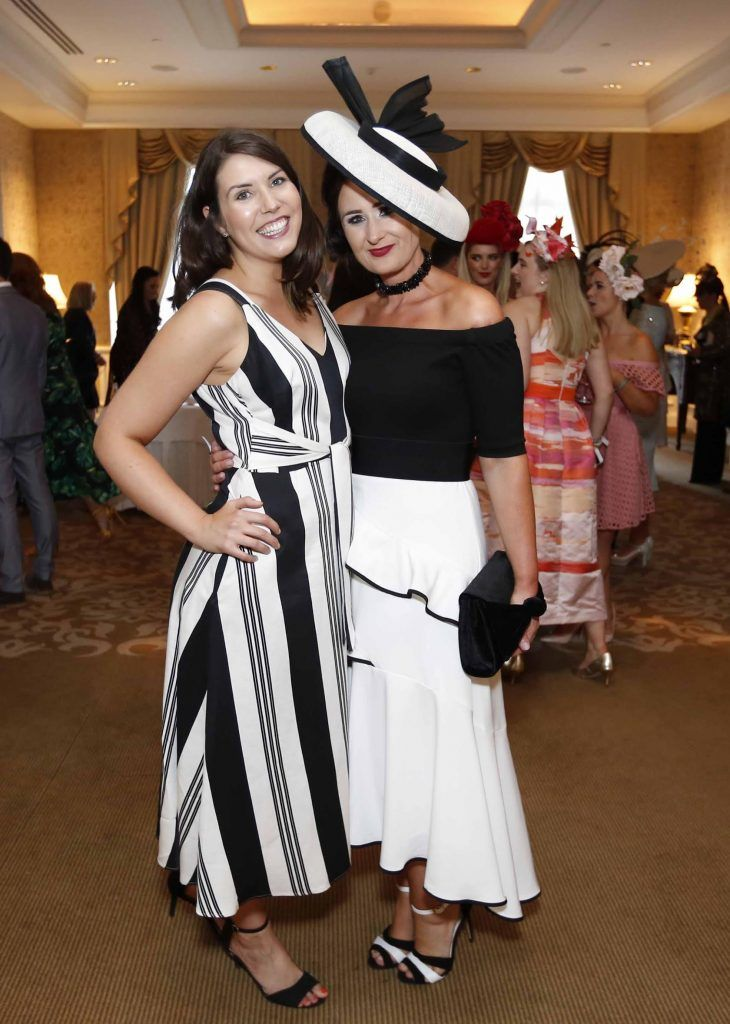 Chloe Moreland and Gail Murphy at InterContinental Dublin following the Dublin Horse Show for the hotel's inaugural 'Continentally Classic' Best Dressed Lady competition, judged by stylist Bairbre Power and Nicky Logue, General Manager of InterContinental Dublin. Photo: Sasko Lazarov/Photocall Ireland