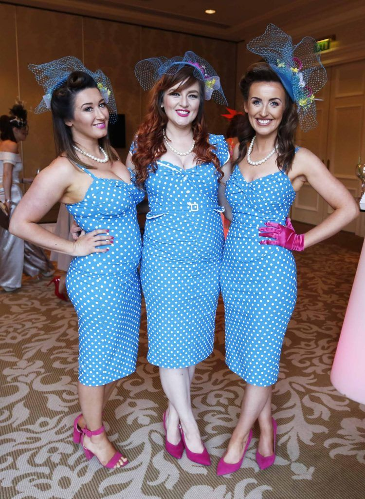 Kerry Ann Rowan, Allison Saul and Kate Donohue at InterContinental Dublin following the Dublin Horse Show for the hotel's inaugural 'Continentally Classic' Best Dressed Lady competition, judged by stylist Bairbre Power and Nicky Logue, General Manager of InterContinental Dublin. Photo: Sasko Lazarov/Photocall Ireland