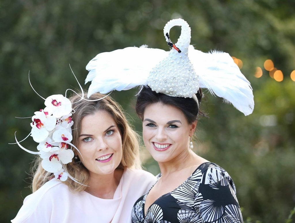 Georgina Kane and Kathy Langley at InterContinental Dublin following the Dublin Horse Show for the hotel's inaugural 'Continentally Classic' Best Dressed Lady competition, judged by stylist Bairbre Power and Nicky Logue, General Manager of InterContinental Dublin. Photo: Sasko Lazarov/Photocall Ireland