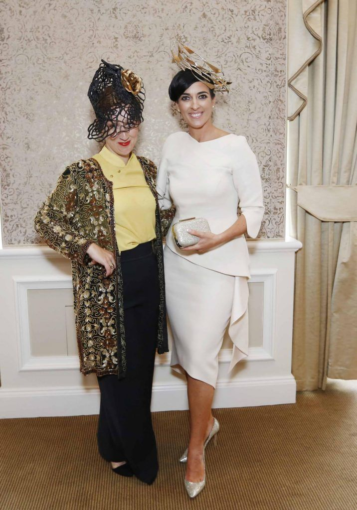 Fiona Hayes and Lisa McGowan at InterContinental Dublin following the Dublin Horse Show for the hotel's inaugural 'Continentally Classic' Best Dressed Lady competition, judged by stylist Bairbre Power and Nicky Logue, General Manager of InterContinental Dublin. Photo: Sasko Lazarov/Photocall Ireland