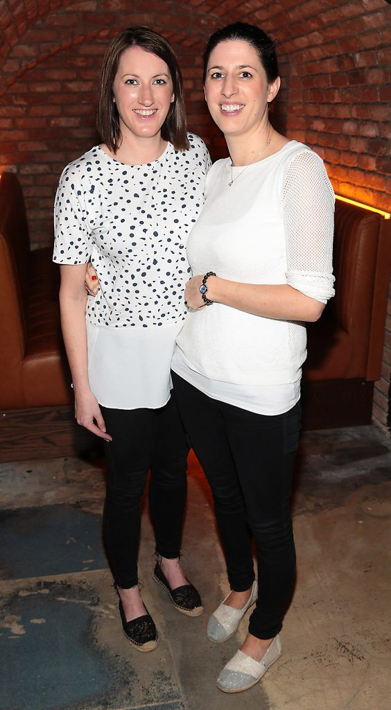 Emma McDonagh and Aine Nolan pictured at the opening of the new Tramline Venue on Hawkins Street, Dublin. Picture by Brian McEvoy