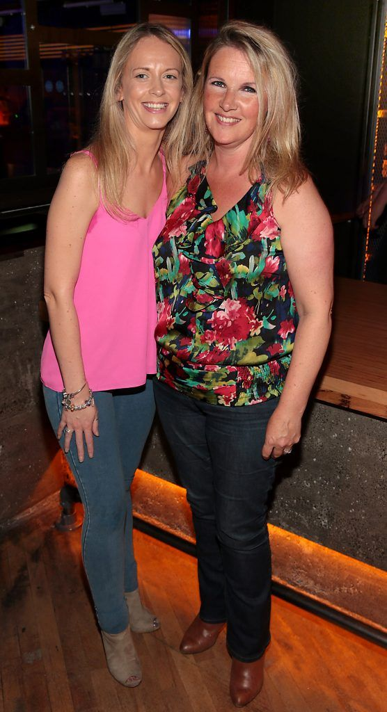 Tara O Reilly and Trisha O Reilly pictured at the opening of the new Tramline Venue on Hawkins Street, Dublin. Picture by Brian McEvoy