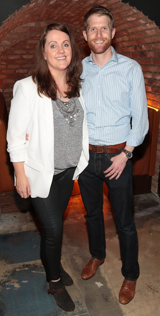 Ruth Scott and Rob Morgan pictured at the opening of the new Tramline Venue on Hawkins Street, Dublin. Picture by Brian McEvoy
