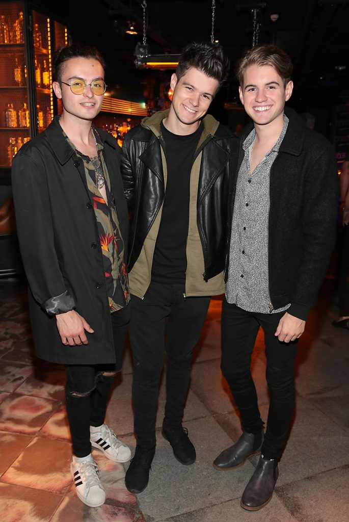 Ste Barron, Eoghan MacMahon and Richie Power of music group Taken pictured at the opening of the new Tramline Venue on Hawkins Street, Dublin. Picture by Brian McEvoy