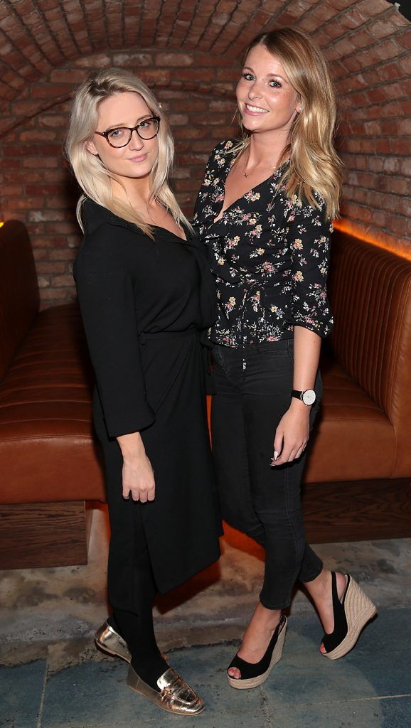 Lucey McCann and Sarah Geoghegan pictured at the opening of the new Tramline Venue on Hawkins Street, Dublin. Picture by Brian McEvoy