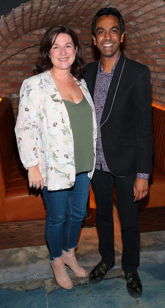 Lisa Gernon and Clint Drieberg pictured at the opening of the new Tramline Venue on Hawkins Street, Dublin. Picture by Brian McEvoy