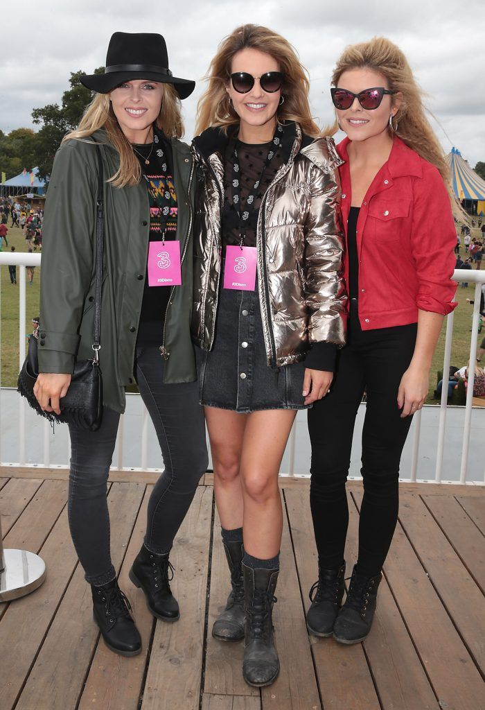 Sisters Ailbhe Garrihy, Aoibhin Garrihy and Doireann Garrihy at the #3Disco area at the sold-out three-day festival Electric Picnic at Stradbally, Co. Laois. Picture: Brian McEvoy