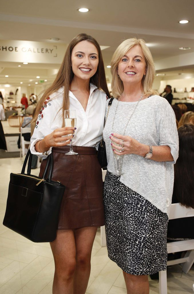 Donna and Rosaleen Mahon at the Pippa O'Connor 'Step into Style' event in the newly opened Arnotts Shoe Gallery. Picture: Conor McCabe Photography.