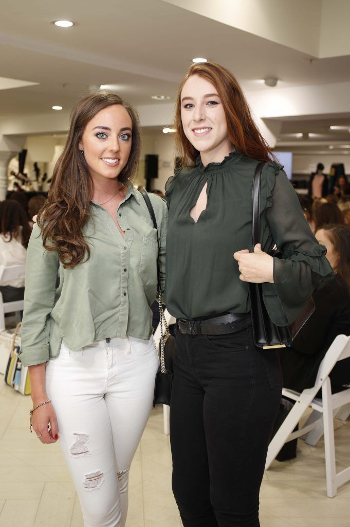 Martha Keaney and Niamh O'Kelly Lynch at the Pippa O'Connor 'Step into Style' event in the newly opened Arnotts Shoe Gallery. Picture: Conor McCabe Photography.