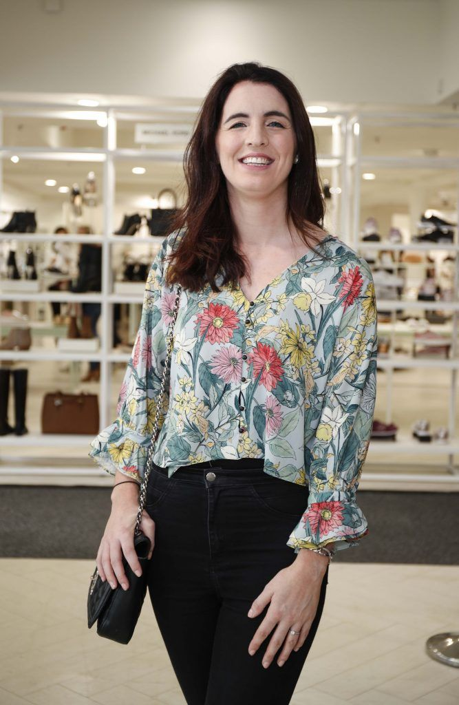 Orla Burkett at the Pippa O'Connor 'Step into Style' event in the newly opened Arnotts Shoe Gallery. Picture: Conor McCabe Photography.