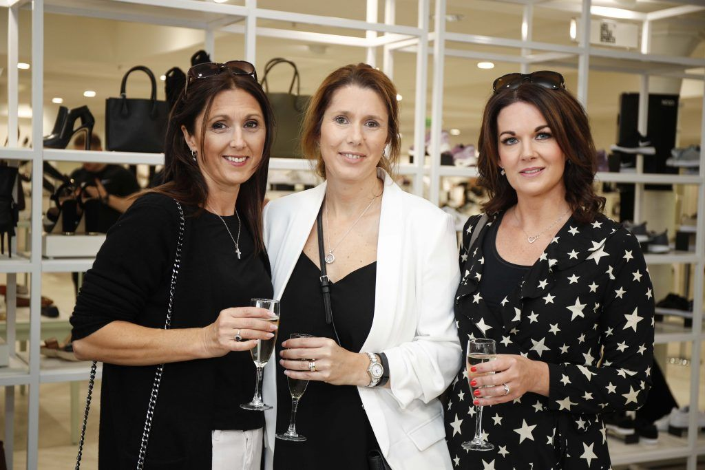 Catherine Delany, Marian Donoghue and Siobhan Delany at the Pippa O'Connor 'Step into Style' event in the newly opened Arnotts Shoe Gallery. Picture: Conor McCabe Photography.