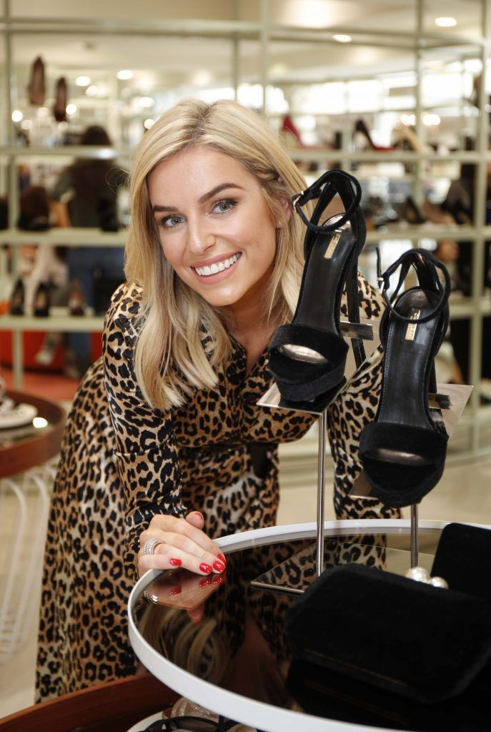 Pictured was Pippa O'Connor ahead of the 'Step into Style' event in the newly opened Arnotts Shoe Gallery. Picture: Conor McCabe Photography