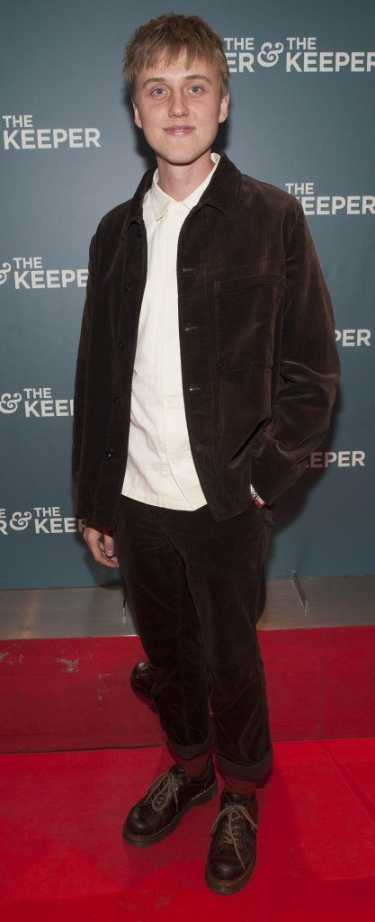 Jacob McCarthy at the Irish premiere of The Drummer & The Keeper at the Light House Cinema, Smithfield. Photo by Patrick O'Leary