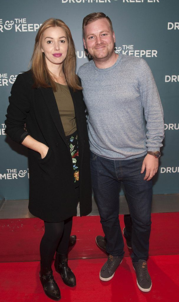 Seana Kerslake and Stephen Jones at the Irish premiere of The Drummer & The Keeper at the Light House Cinema, Smithfield. Photo by Patrick O'Leary