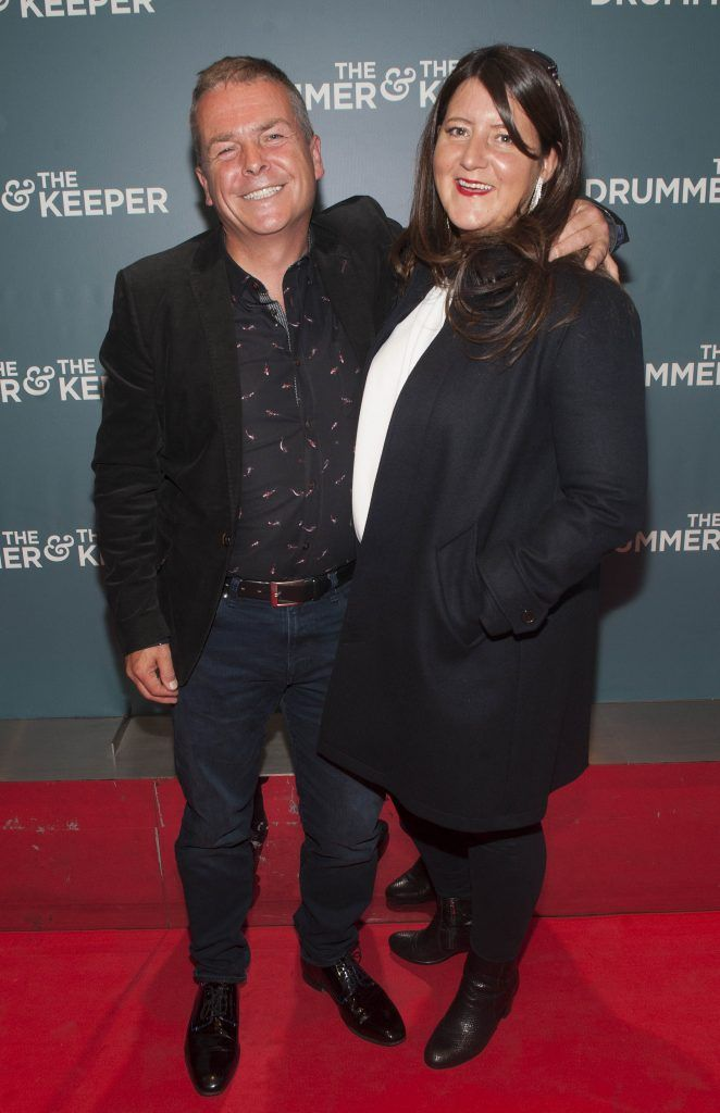 Nick Kelly and Kate McColgan at the Irish premiere of The Drummer & The Keeper at the Light House Cinema, Smithfield. Photo by Patrick O'Leary