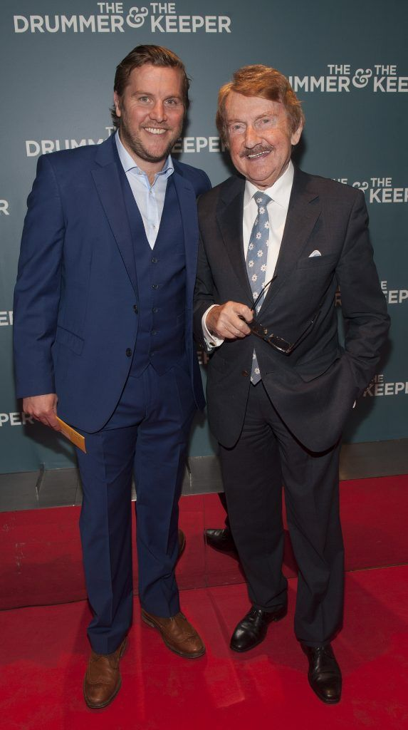 Peter Coonan and his father Martin at the Irish premiere of The Drummer & The Keeper at the Light House Cinema, Smithfield. Photo by Patrick O'Leary