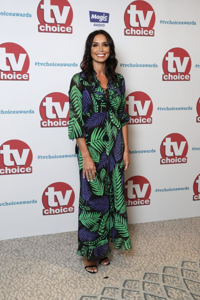 Christine Lampard arrives for the TV Choice Awards at The Dorchester on September 4, 2017 in London, England.  (Photo by John Phillips/Getty Images)