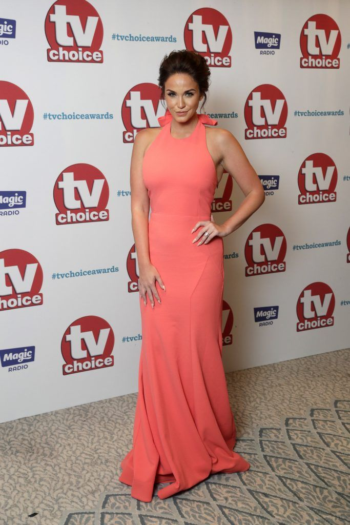 Vicky Pattison arrives for the TV Choice Awards at The Dorchester on September 4, 2017 in London, England.  (Photo by John Phillips/Getty Images)