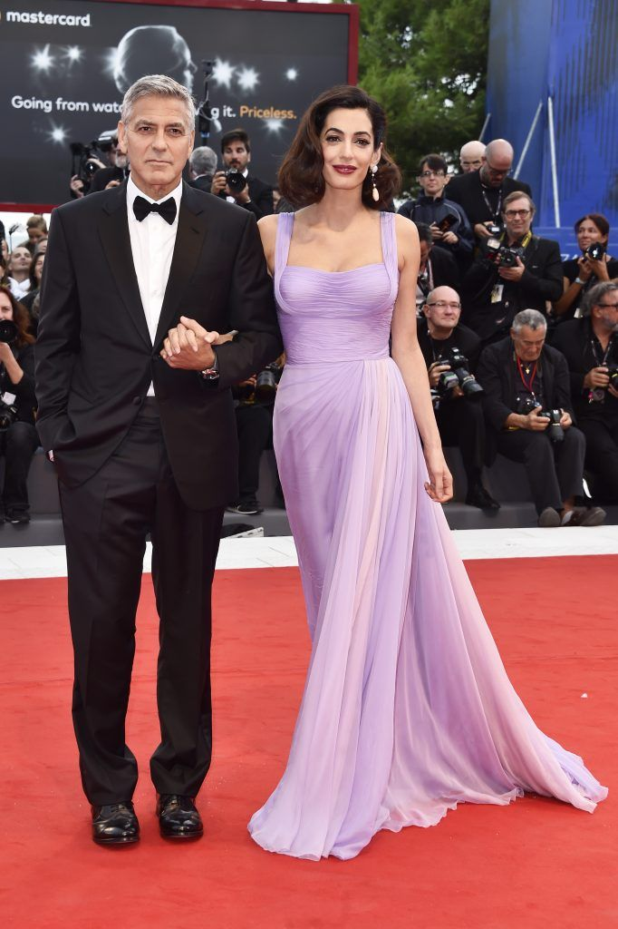 George Clooney and Amal Clooney walk the red carpet ahead of the 'Suburbicon' screening during the 74th Venice Film Festival at Sala Grande on September 2, 2017 in Venice, Italy.  (Photo by Pascal Le Segretain/Getty Images)