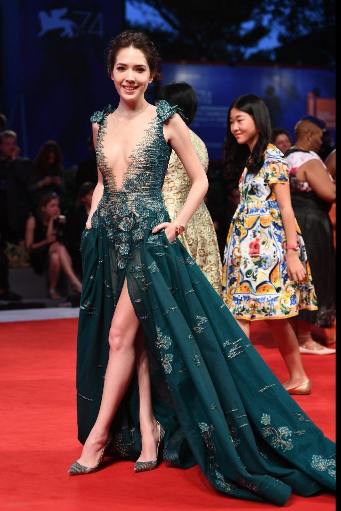 Wei-Ning, Hsu walks the red carpet ahead of the 'Three Billboards Outside Ebbing, Missouri' screening during the 74th Venice Film Festival at Sala Grande on September 4, 2017 in Venice, Italy.  (Photo by Ian Gavan/Getty Images for  Jaeger-LeCoultre)