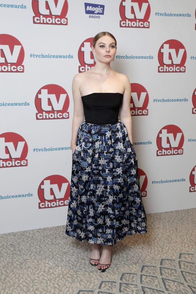 Nell Hudson arrives for the TV Choice Awards at The Dorchester on September 4, 2017 in London, England.  (Photo by John Phillips/Getty Images)