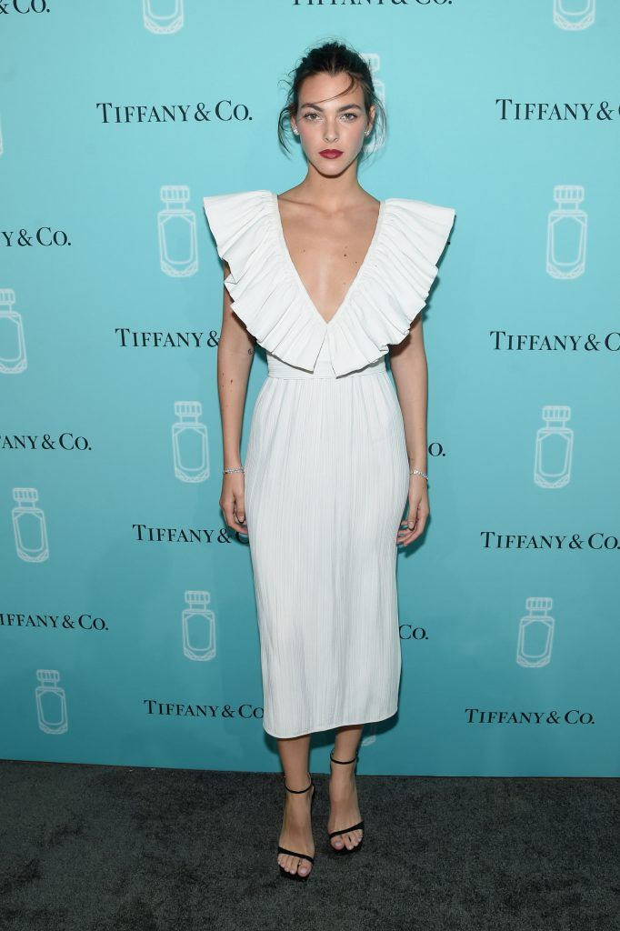 Model Vittoria Ceretti attends the Tiffany & Co. Fragrance launch event on September 6, 2017 in New York City.  (Photo by Jamie McCarthy/Getty Images for Tiffany & Co.)