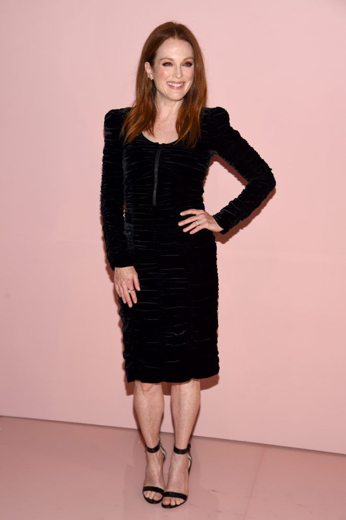 Julianne Moore attends the Tom Ford Spring/Summer 2018 Runway Show at Park Avenue Armory on September 6, 2017 in New York City.  (Photo by Dimitrios Kambouris/Getty Images for Tom Ford)