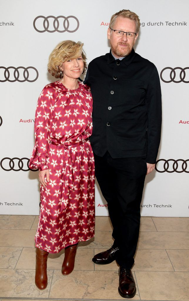 Sonya Lennon and David Smith pictured at the all new Audi A8 launch at the RHA Gallery, Dublin. Photo by Brian McEvoy